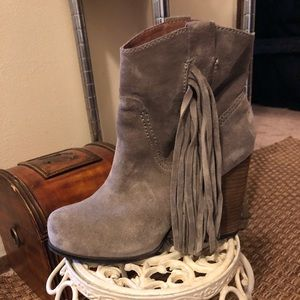 Jeffery Campbell fringe boots